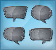 Comic Stone Speech Bubbles Stock Images