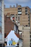 Comic strip mural painting in Brussels, Belgium Stock Photos