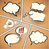 Comic Strip Speech Bubbles Royalty Free Stock Photos