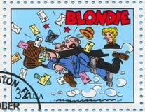 Comic Strips. UNITED STATES - CIRCA 1995: stamp printed by United states, shows Comic Strips, Blondie, circa 1995 stock image