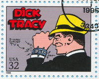 Comic Strips. UNITED STATES - CIRCA 1995: stamp printed by United states, shows Comic Strips, Tracy, circa 1995 stock images
