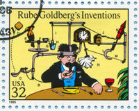 Comic Strips. UNITED STATES - CIRCA 1995: stamp printed by United states, shows Comic Strips, Rube Goldbergs Inventions, circa 1995 Stock Image
