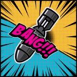 Comic style bomb illustration. Design element for poster, banner, flyer. Vector illustration Stock Image