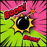 Comic style bomb illustration. Design element for poster, banner, flyer. Vector illustration Royalty Free Stock Photos