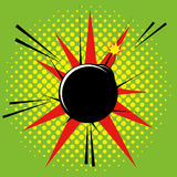 Comic Style Bomb Isolated On Background Royalty Free Stock Image