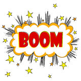 Comic style Boom text design Royalty Free Stock Photos
