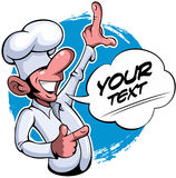 Comic style, cartoon style smiling cook chef master Stock Photo