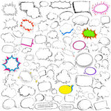 Comic style chat and speech bubble jumbo collection Royalty Free Stock Image