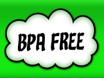 Comic style cloud with BPA FREE writing on bright green background. Illustration Royalty Free Stock Image