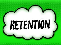 Comic style cloud with RETENTION writing on bright green backgro. Und. Illustration Stock Photography