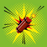 Comic Style Dynamite Isolated On Background Royalty Free Stock Photo