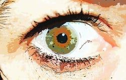 Comic style eye. Photo of my eye Stock Photography