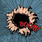 Comic style hole vector background Stock Photo