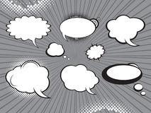 Comic style speech bubbles set Royalty Free Stock Photo