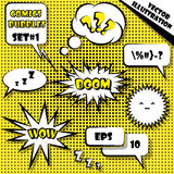 Comic style speech bubbles set  1. Vector Illustration Stock Photo