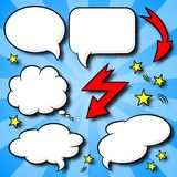 Comic style speech bubbles. Vector illustration of a collection of comic style speech bubbles Royalty Free Stock Photo