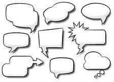 Comic style speech bubbles. Vector illustration of a collection of comic style speech bubbles Stock Photos