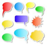 Comic style speech bubbles Stock Photography