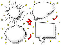 Comic style speech bubbles Stock Image