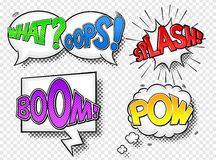 Comic style speech bubbles Royalty Free Stock Photography