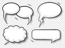 Comic style speech bubbles Stock Image