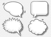 Comic style speech bubbles Stock Photos