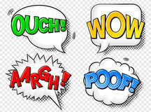 Comic style speech bubbles Stock Images