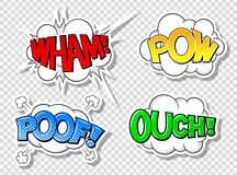 Comic style speech bubbles Royalty Free Stock Image