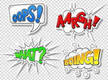 Comic style speech bubbles Royalty Free Stock Photos