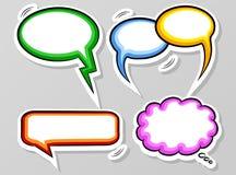 Comic style speech bubbles Stock Images