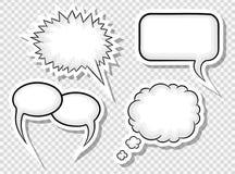 Comic style speech bubbles Stock Photos