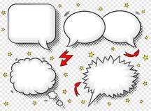 Comic style speech bubbles Stock Photography