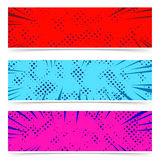 Comic style strips collection with retro dotted pattern. Bright Stock Photography