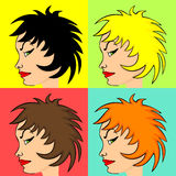 Comic style woman's profile Royalty Free Stock Photography