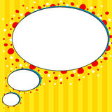 Comic style yellow talk bubble background Stock Image