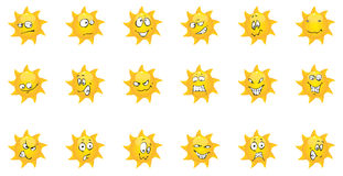 Comic Sun summer emotion Royalty Free Stock Images