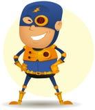 Comic Superhero With Golden Armor Stock Photos