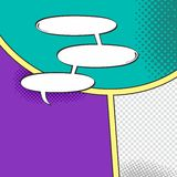 Comic template element with speech bubble halftone art Royalty Free Stock Photography