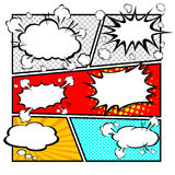 Comic template Vector Stock Images