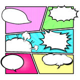 Comic template Vector Pop-Art Royalty Free Stock Images
