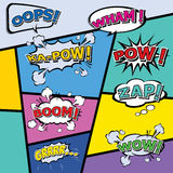 Comic template Vector Pop-Art Stock Photos