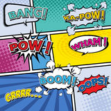 Comic template Vector Pop-Art. Stock Photography