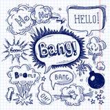 Comic text bubble blank Royalty Free Stock Photo