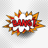 Comic Text, Pop Art style.BANG. Stock Image