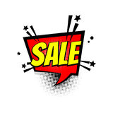 Comic text sale speech bubble pop art Stock Photos