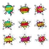 Comic text speech bubble pop art set damn Royalty Free Stock Image