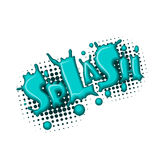 Comic text water splash Royalty Free Stock Images