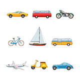 Comic Transport Set Stock Image