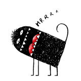 Comic ugly scary angry monster design Stock Images