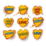 Comic Valentine Heart Stock Images